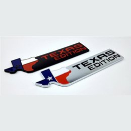 Wholesale Carbon Fiber Wing - Wholesale- TEXAS EDITION Trunk Auto Tail Emblem TEXAS Side Wing Badge Car Fender Sticker for JEEP Renegade Wrangler Patriot Cherokee SUV