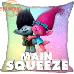 Wholesale Hospital Sales - Wholesale- Hot Sale Trolls Pillowcase Wedding Decorative Pillow Case Customize Gift For Pillow Cover A311&32
