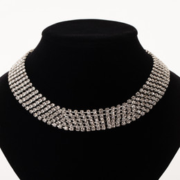 Wholesale Nickel Free Wedding Jewelry - YFJEWE Multiple rows rows Clear Crystal Necklace sliver plated Color Fashion Jewelry Nickel Free Austria Crystal necklace