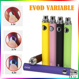 Wholesale ce5 cigarette - EVOD Battery EVOD Variable Voltage 3.3V 3.7V 4.2V 650mAh 900mAh 1100mAh E-cigarettes Battery for 510 Thread MT3 CE4 CE5 Atomizer