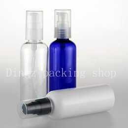 Wholesale Shampoo Women - 50PCS lot 100ml Professional Women Lady Beauty Shampoo Lotion empty plastic pump bottle lotion Make Up Cosmetic Cute Tool