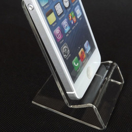 Wholesale Display Stands For Phones - DHL fast delivery Acrylic Cell phone mobile phone Display Stands Holder stand for 6inch iphone samsung HTC