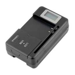 Wholesale Car Spares - Mobile Universal Battery Charger LCD Indicator Screen For Cell Phones USB-Port Convenient Interchanging For Spare Batteries