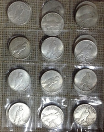 Wholesale Collectible Money - HOT SELLING SET 6 PC(1922-1964)'D'' Peace ONE DOLLAR FREE SHIPPING