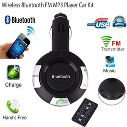 Wholesale Double Lighter Usb Charger - Bluetooth Car Kit Cigarette Lighter MP3 FM Transmitter Double USB Charger Handsfree Car-styling Retail&Wholesale Free Shipping