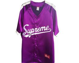 Wholesale Dj Blend - SUPREMAN SS17 satin casual V necked basebal Justin Bieber Dj Khaled black S-XXL neutral clothing