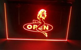 Wholesale Girls Neon - OPEN Sexy Sex Girls beer bar pub club 3d signs led neon light sign home decor crafts