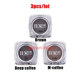 Wholesale Tattoos Ink Paints - Wholesale- 3pcs PCD eyebrow tattoo ink permanent makeup pigment 3D manual embroidered permanent tattoo eyebrow paint free shipping