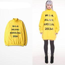 Wholesale Turtle Neck Sweatshirts - Hot Fashion Star Clothes Men Women Turtle Neck Pullover Sweatshirt Classic Print Kanye Streetwear