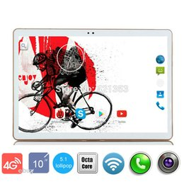 Wholesale Android Tablet Google Play Store - Wholesale- 10 inch 3G 4G LTE Tablet Octa Core Google Play Store Android 5.1 OS 4GB RAM 32GB ROM 1280*800 HD IPS Screen GPS Tablet 10 10.1