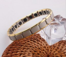 Wholesale Magnetic Rings Bracelets Wholesale - hot selling New arrival 10pcs Energy bracelet Titanium, Nano Energy Magnetic Germanium Titanium Bracelet Pain Relief Powerfull! 48