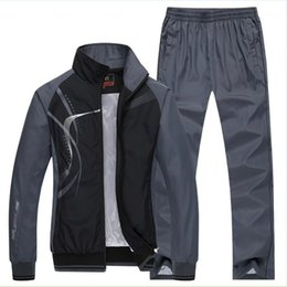 Wholesale Button Up Pants - Wholesale- men's Sportswear Man Sporting suits brand Tracksuits kocogas hoodies and sweatshirts mens Jackets+Pants 2Pcs 5xl plus siz