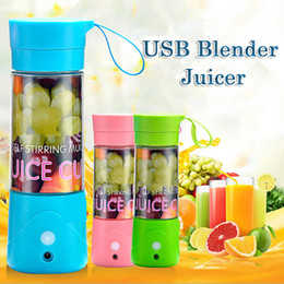 Wholesale 380Ml USB Fruit Juicer Portable Rechargeable Electric Blender Juicer Personal Juicer Mixer Bottle For Outdoors Activities