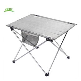 Wholesale Folding Tables Camping - Wholesale- BRS-Z33 Portable Outdoor Folding Table Oxford Fabric Ultralight Foldable Table Anti-concave Design with Carrying Bag for Camping
