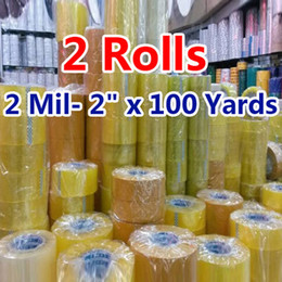 Wholesale Adhesive Ribbon Tape - Wholesale- 2016 2 rolls 1.8*0.6 inch Packing Tape Adhesive Tape Film Paper Adhesive Strapping Gift Ribbon Office Adhesive Tape