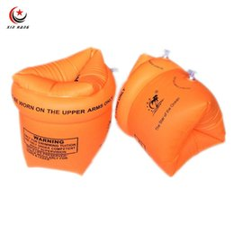 Wholesale Swim Trainer Ring - Wholesale- One Pair Inflatable Arm Rings Children Learn To Swim Accessories Safety Kids Arm Floats Boys Swimming Trainer Floating Sleeves