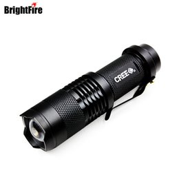 Wholesale Torch High Quality Diving - High Quality CREE Q5 Waterproof 3 Modes Mini LED Flashlight Adjustable Focus Zoomable Torch Lights