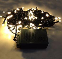 niños guantes amarillos Rebajas 10M 100 LED String Light Fairy Christmas Holiday Navidad Decoración al aire libre Iluminación Dark Green Wire Blanco / Azul / Colorido / Blanco cálido AC110V-250V