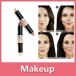 Wholesale Universal Sun Shade - 2016 New Nyx Cosmetics NYX Wonder Stick Highlights And Contours Shade Stick Light Medium Deep Universal NYX Concealer DHL Free 161011