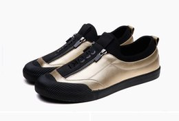 Wholesale Floor Resistance - 2017 spring and autumn Breathable casual Men's Flat shoes Black Gray Golden Abrasion resistance Fashion shoes England amorous feelings
