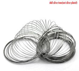 Wholesale Memory Steel Wire - DoreenBeads Steel Wire Memory Beading Bracelets Components Round Gunmetal 5cm-5.5cm Dia, 40 Loops 2015 new wholesale