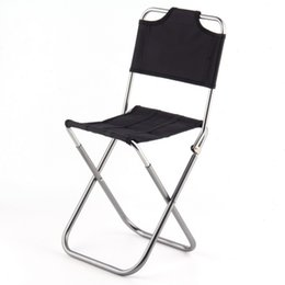 Wholesale Folding Chair Aluminum - Wholesale- Fishing 2017 Portable Folding Outdoor Fishing Camping Chair Aluminum Oxford Cloth Chair with Backrest Carry Bag Black