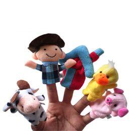 Wholesale Old Macdonald Finger Puppets - New Design 10PCS Set Animal Finger Puppet Plush Toys for Baby Old Macdonald Had A Farm Puppets Forest Farm Animals Finge