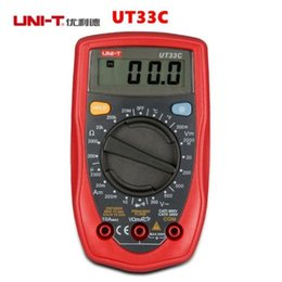 Wholesale Lcd Auto Range Multimeter - UNI-T UT33C Digital Multimeter Auto Range Can Test AC DC Current Transistor LCD