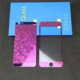 3D Rhombus Forme Protecteur D'écran Plein Corps Protecteur D'écran Bling Diamant Électroplastie Film Autocollant pour iPhone 6 6s 7 plus 5 5s 4s 4 OPP ? partir de fabricateur