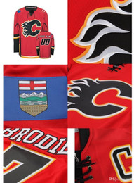 Wholesale Flame Numbers - 2016 New, Customized MENS Calgary Flames CUSTOM ANY NAME ANY NUMBER Ice Hockey Jersey,Authentic Stitched Jersey,SizeS-4XL,Accept Mix O