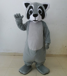 Wholesale Racoon Adult Costume - 100% real photos of grey colour raccoon mascot racoon costume for adult to wear for sale