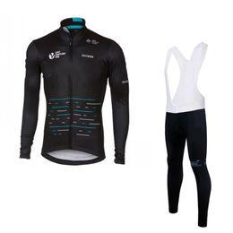 Wholesale Teams Cycling Jerseys - 2017 winter thermal fleece team sky cycling jersey long sleeve Quick-Dry Racing Bicycle ropa ciclismo bike cloth bib pants gel pad