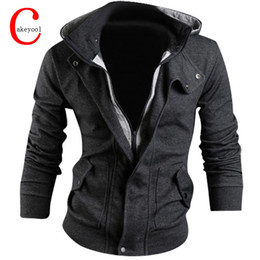 Wholesale Double Layer Fleece - Wholesale-New Man Hoody Casual Sweatshirt Mens Brand Suit 3 Colors Fleece Hoodie Jackets Men Sportswear Hoodied Sweatshirt M-XXXL