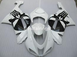 2019 camelos plásticos Kit de carenagem para Kawasaki Ninja ZX6R 2007 2008 carenagem de carroçaria preta ZX6R 07 08 MA03