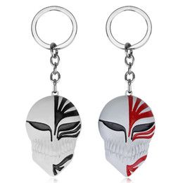 Wholesale Bleach Pendant - Free Shipping Anime Keyring Fashion Bleach The Death Mask Cool Pendant Keychain Black and Red Colors
