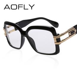 Wholesale Plain Eye Glasses For Men - Wholesale- AOFLY Eye glasses Women Square Frame Fashion Designer Optical Glasses Unisex Plain Eyeglass Frames for Women Men oculos de grau