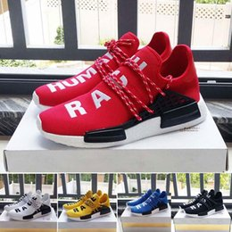 Wholesale Cheap Casual Boots - New 2017 Pharrell Williams X NMD Human Race Running Shoes NMD Runner cheap top quality casual Sneakers Boots yellow white red blue green