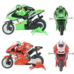 Wholesale Mini Moto Bikes - Wholesale- 2.4GMhz 1:20 3CH Speed Remote Control Electric Mini RC Motorcycle Moto Bike RTR