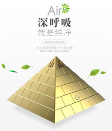Wholesale Air Freshener For Office - Mini Pyramid Car Air Freshener Essential Oils Aroma LED USB Purifying fragrance Purifier for Home Office Car SPA 5V