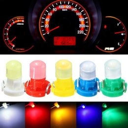 Wholesale bulbs dashboard - 30pcs lot T3 LED Car Light Bulb Cluster Gauges Dashboard White Yellow Blue Red Green instruments Panel Climate Base Lamp Light