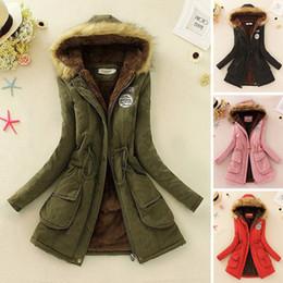 Wholesale Long Parka Women Fleece - Lisa_Tide Winter Warm Coat Women Long Parkas Fashion Lamb Fur Hooded Womens Overcoat Casual Cotton Padded Jacket Female Mutil Colors W-027
