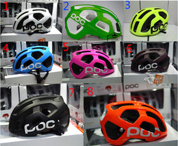 Wholesale Mtb Cycle Helmets - poc Octal Raceday Road Helmet Cycling Men's Women's Eps Ultralight Mtb Mountain Bike Comfort Safety Cycle Bicycle Size M 54-60cm