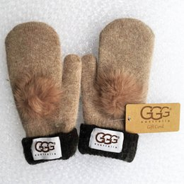 Wholesale Gloves Mittens Women - High quality wool glovess European fashion designer warm glove drive out of sports mitten brand gloves multi-style optional