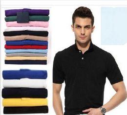 Wholesale Mens Logo Shirts - Hot Sale 2018 New Polo Shirt Men High Quality Crocodile Embroidery LOGO Big Size S-6XL Short Sleeve Summer Casual Cotton Polo Shirts Mens