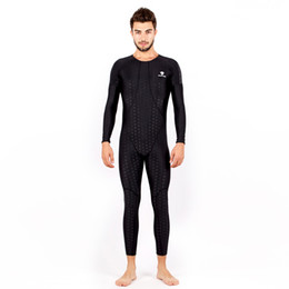 Wholesale Black Body Suits - HXBY Men One Piece Suits Man Swimsuit Swimwear Arena Full Body Bathing Suit Mens One Piece Swimsuits Competition Swim Suit Sharkskin 5XL