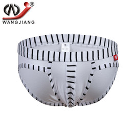 Wholesale Mens Cotton Underwear Bikini - WJ Brand 2016 Sexy Bikini Briefs Mens Underwear Wholesale Slip Hombre Colorful Striped Cotton Low Waist Man Underpants