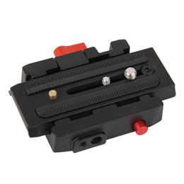 Wholesale Quick Release Plate Manfrotto - Camera Tripod Monopod P200 QR Aluminium Alloy Clamp Adapter+Quick Release Plate for Manfrotto 501 500AH 701HDV 503HDV Q5