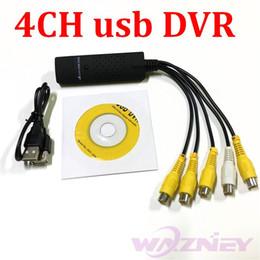 Wholesale Av Dvr Adapter - 100set lot* 4CH USB DVR 4 CH channel USB 2.0 VHS to DVD Converter Adapter Audio AV Video CAPTURE CARD Adapter For Win7 XP