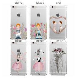 Wholesale Anime Iphone 5c Case - Cartoon Anime Girl Fresh Lovers Soft Transparent TPU Cover Case for iPhone 4 4s 5 5s 5c 6 6s Plus Samsung