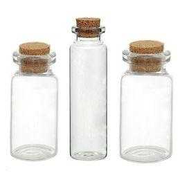Wholesale Glass Potion Bottles - Wholesale- Glass Bottles Small Vase Tiny Bottles Jewelry Vial Potion Glass & Wooden Box Wishing Gift Jewelry Storage Boxes Organizer 5PCs